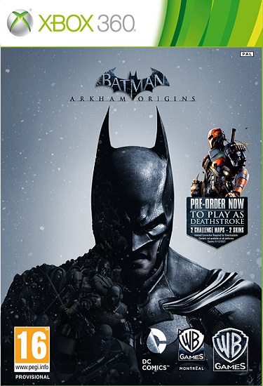 Batman Arkham Origins - Xbox 360 Box Art