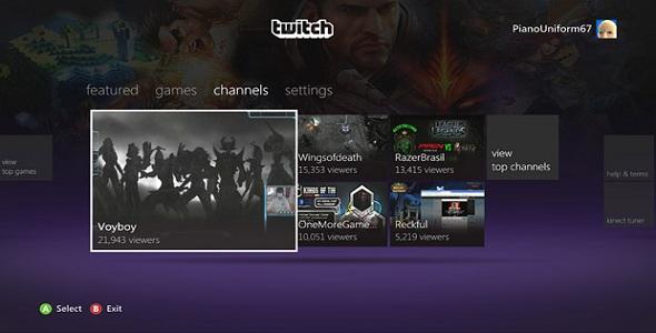 Twitch sur Xbox LIVE