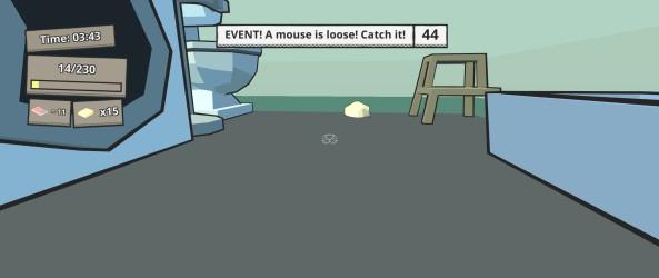 """Un des """"évènements"""" du jeu. Et ceci est supposé être une souris."""
