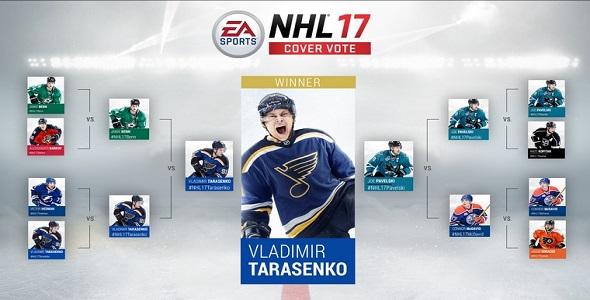 NHL 17 - joueur sur pochette